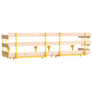Plataformas para betonagem de muro
